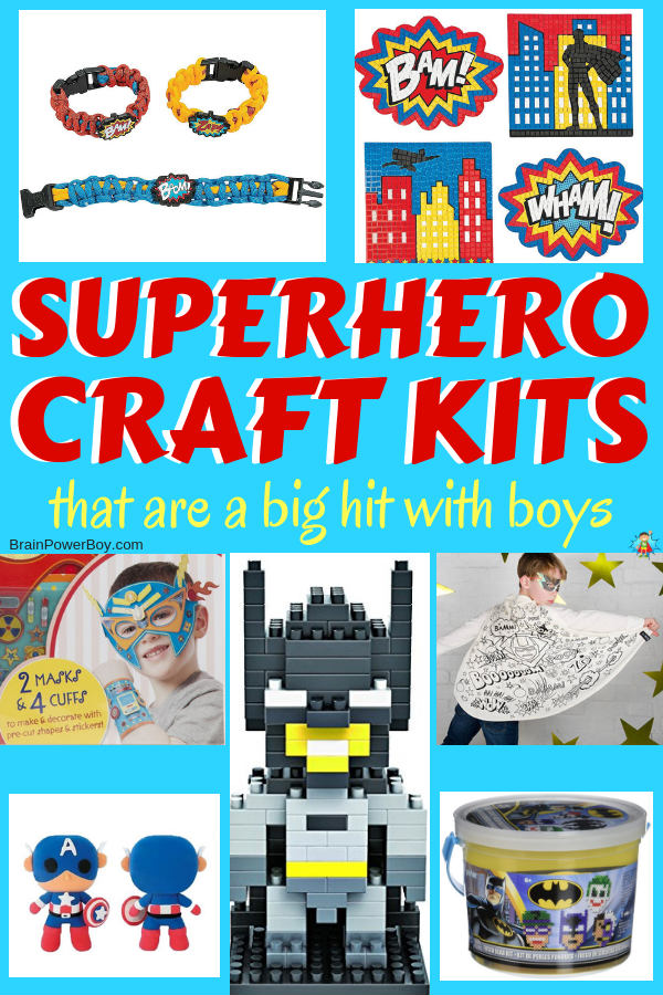 Superhero Craft Kits That Are a Big Hit With Boys!