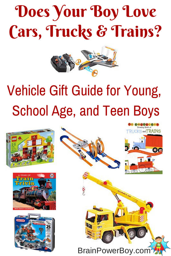 Car, Truck, and Train Experiences Plus Gift Guide for Boys