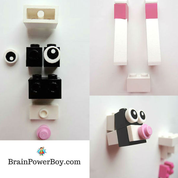 LEGO designs for a LEGO Easter Rabbit. Building instructions and video included.