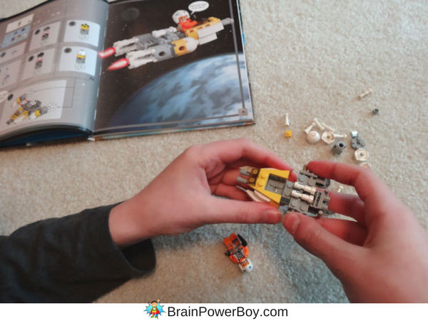 Fun times building Zin's Y-Wing Fighter from the LEGO Star Wars Build Your Own Adventure book. See more pictures on our site. (ad)