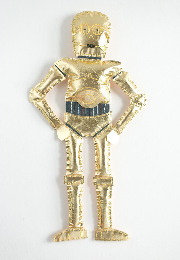 C3PO Felt and Metallic Fabric Plush Doll