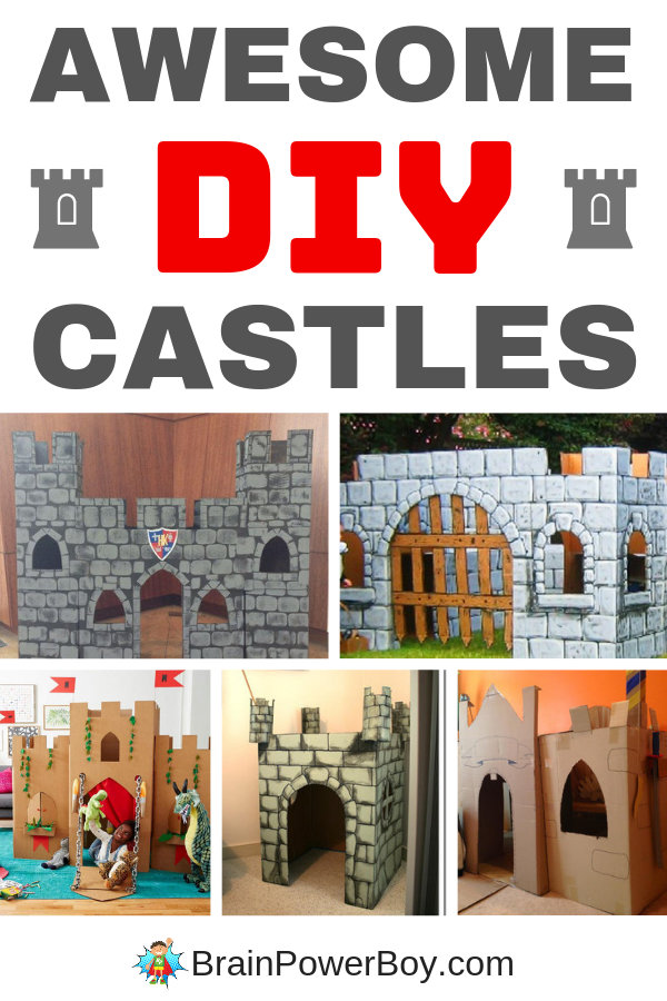 You cannot miss these awesome cardboard castles. Make one as a fort for your young knight today!