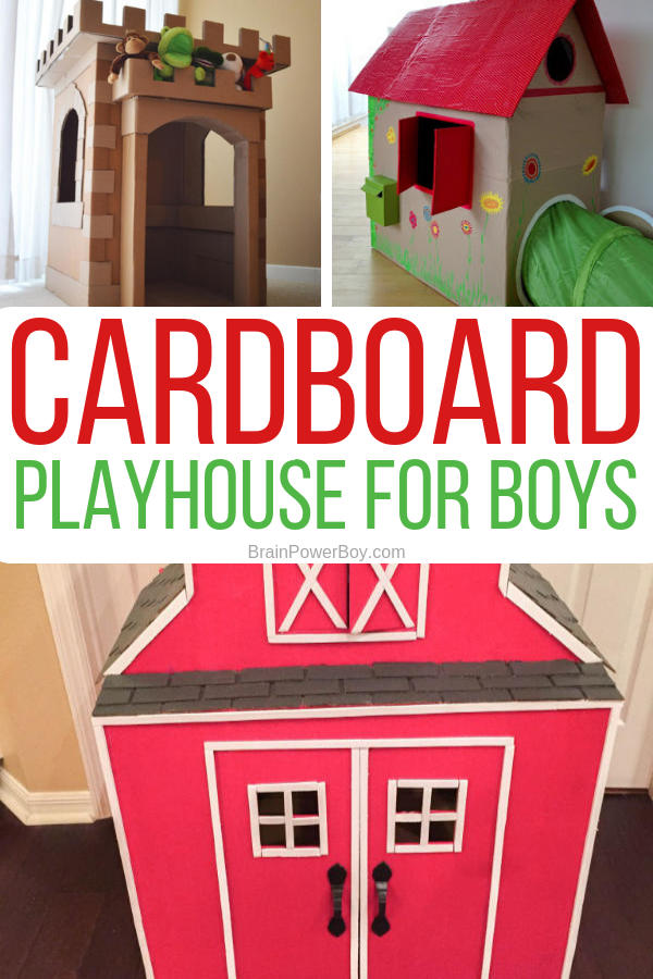 You are not going to believe these incredible cardboard playhouses for boys. We found the best ones that are totally boy friendly.