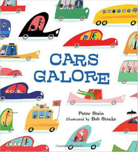 Cars Galore is filled with wonderful vibrant color illustrations