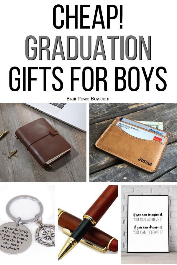 If you are frugal or don't have a lot of money to spend, you are really going to appreciate these cheap graduation gifts for boys. Just because they are cheap, doesn't mean they are junky. I found awesome gifts for you to give. Click or tap to see them all.