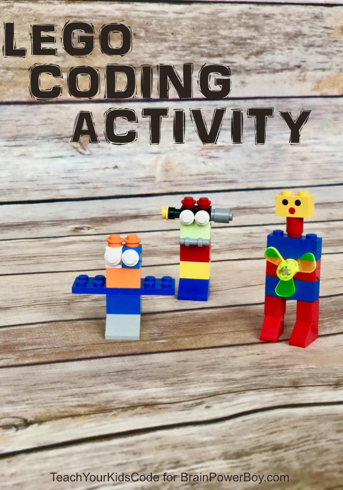 Coding Activity with LEGO using LEGO bricks to make robots.
