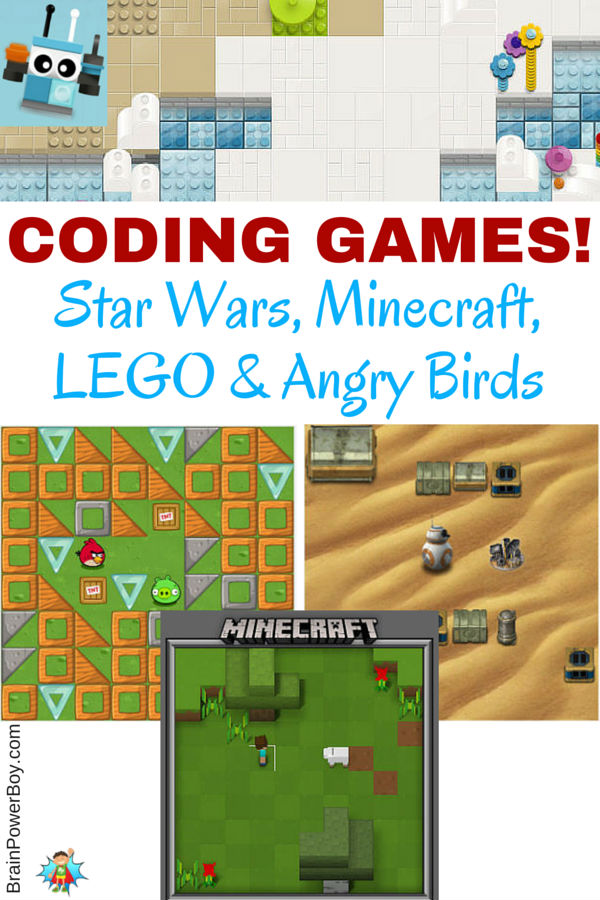 Coding Games: Star Wars, Minecraft, LEGO & Angry Birds