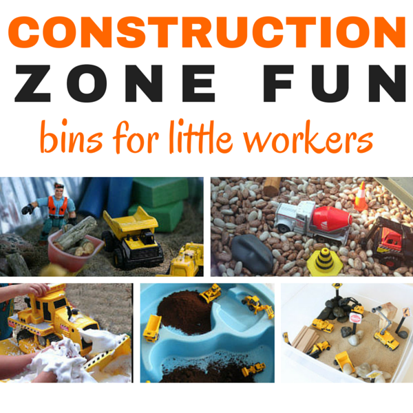 Fun zone ahead! 12 wonderful construction bins that will rock your little worker's world. These are the best of the best!