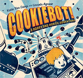 Cookiebot! With retro illustrations and a robot theme you simply can't go wrong.