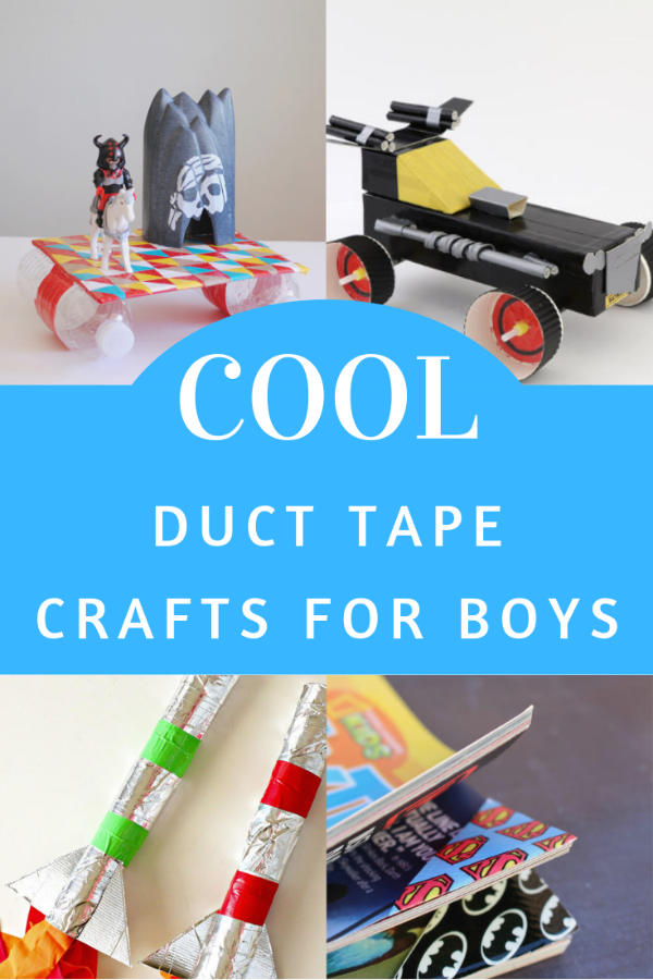 Your boys are going to want to make these cool duct tape crafts! There are some really great ideas here. Tap or click to see them all.