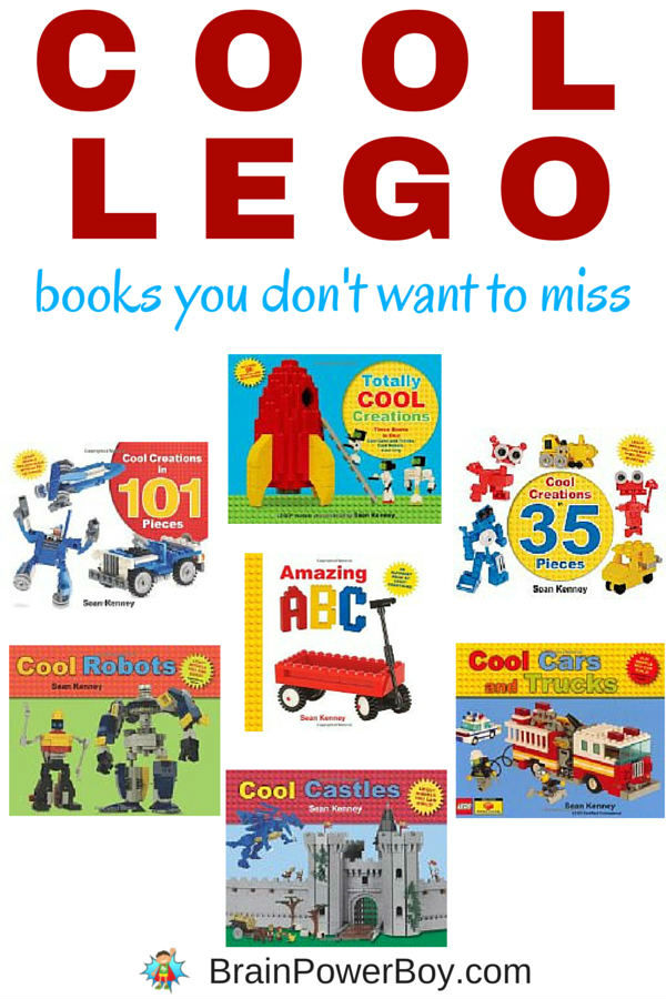 "Looking for some neat LEGO books? You have to see this list of books from Sean Kenney. They have visual instructions just like LEGO sets do and the variety of things you can build is so, well, ""cool!"" Kids will love them. Click to see them all."