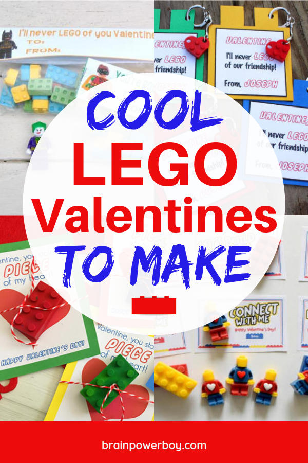 Do no miss this great collection of Cool LEGO Valentines to Make! These are the best LEGO valentines out there and they are a lot of fun to make and give.