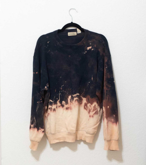 Bleach Dipped Dye Sweatshirt