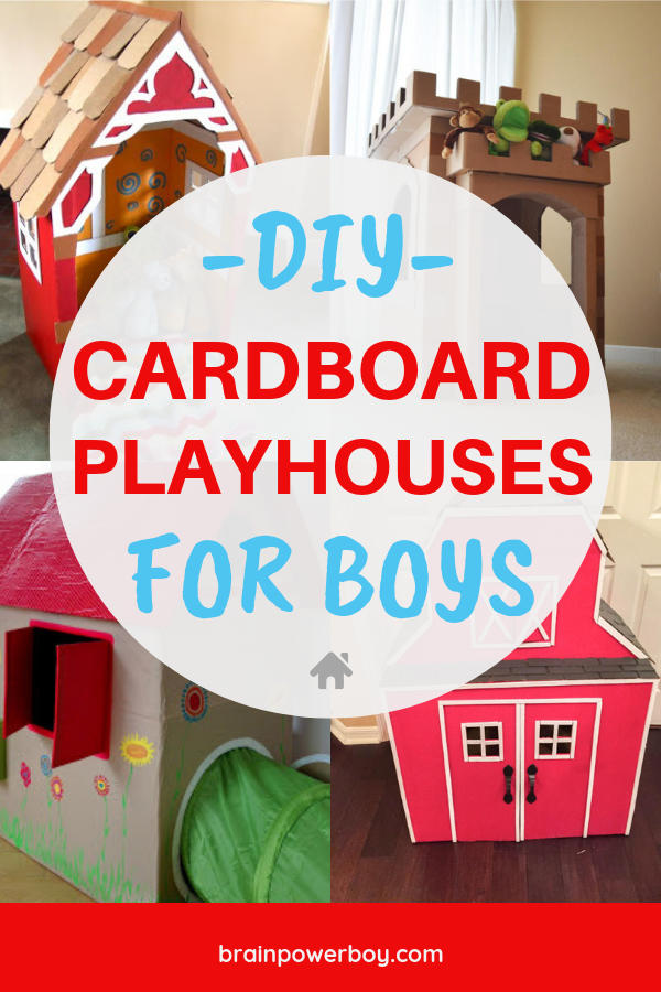 Don't wait another minute. You have to see (and make!) these cardboard playhouses for your boys.