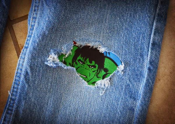 DIY Hulk Jean Patch