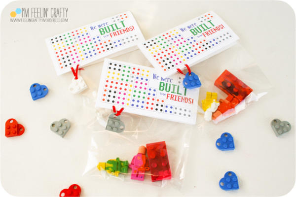 DIY LEGO Crayon Valentines