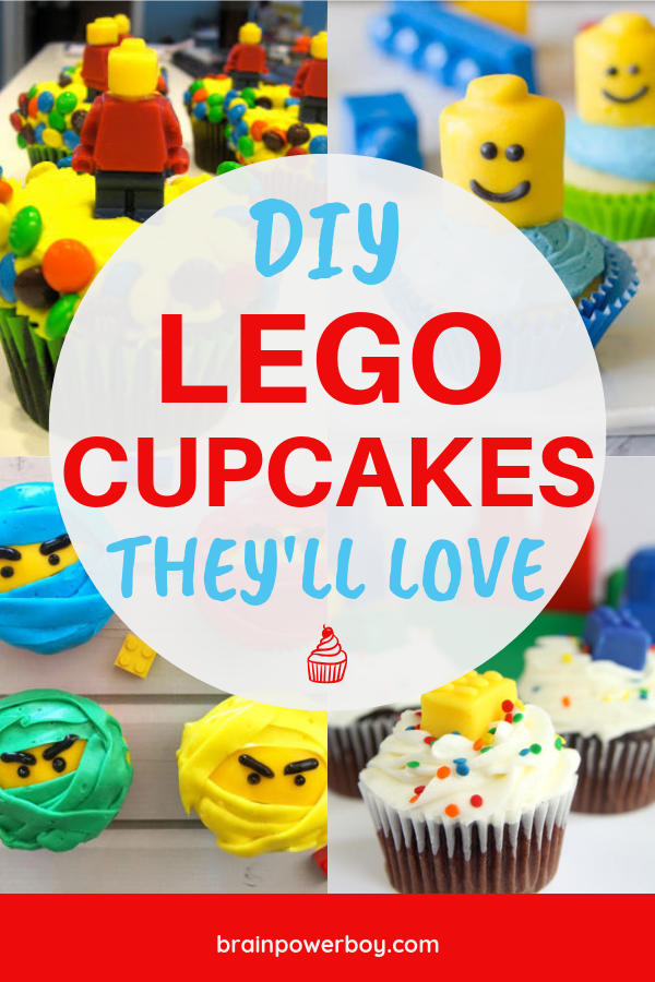 You can make these DIY LEGO Cupcakes yourself! See the tutorials and make your LEGO party a hit!