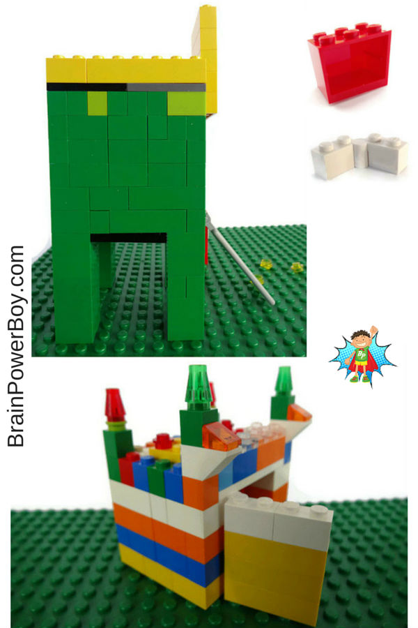 Make a LEGO Leprechaun Trap. Includes how to make a door that closes.