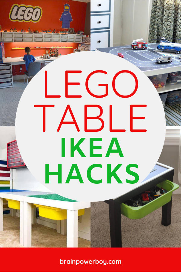Love these IKEA hacks for making LEGO Tables!! I'm making one!