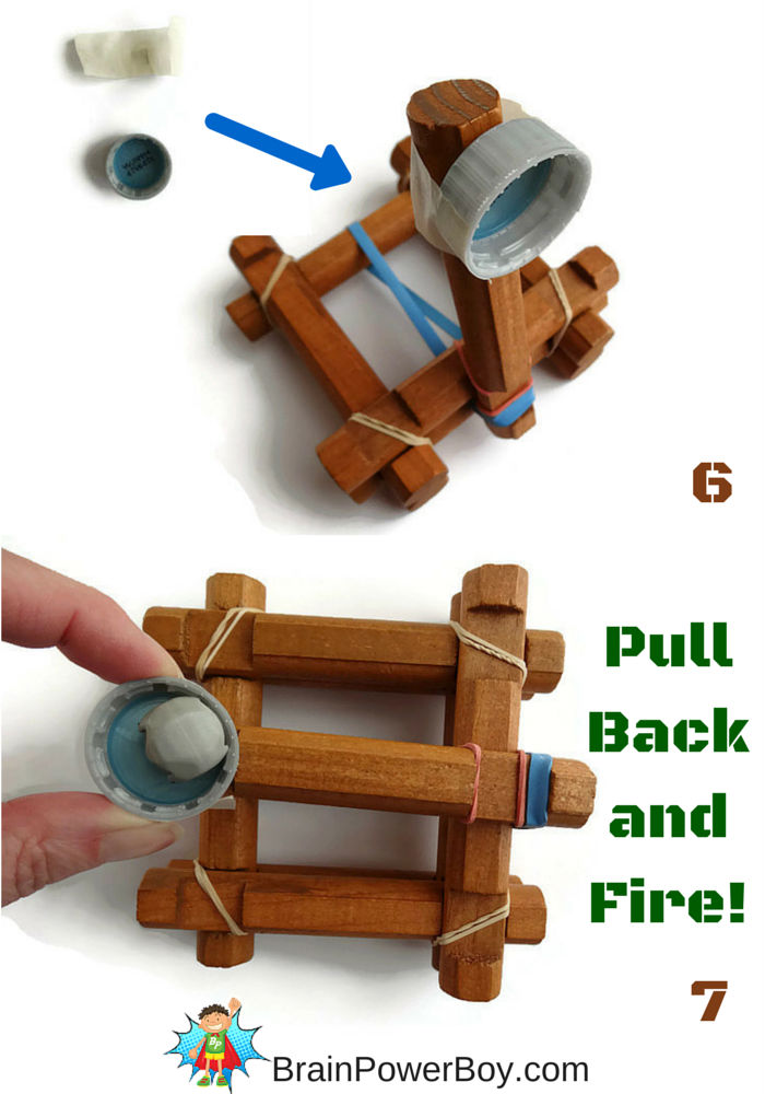 DIY Lincoln Log Catapult Toy to make and play with.