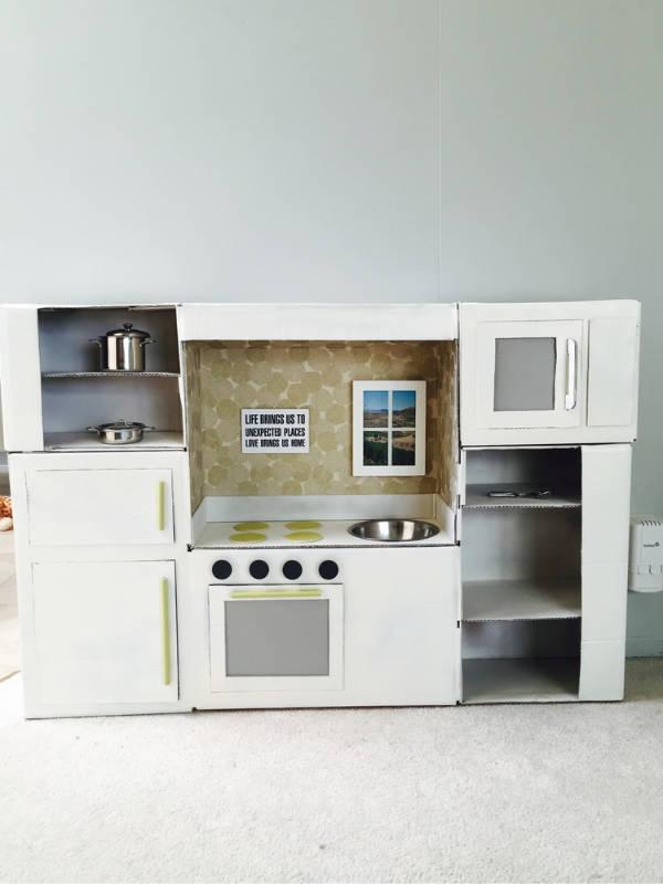 DIY Play Cardboard Kitchen