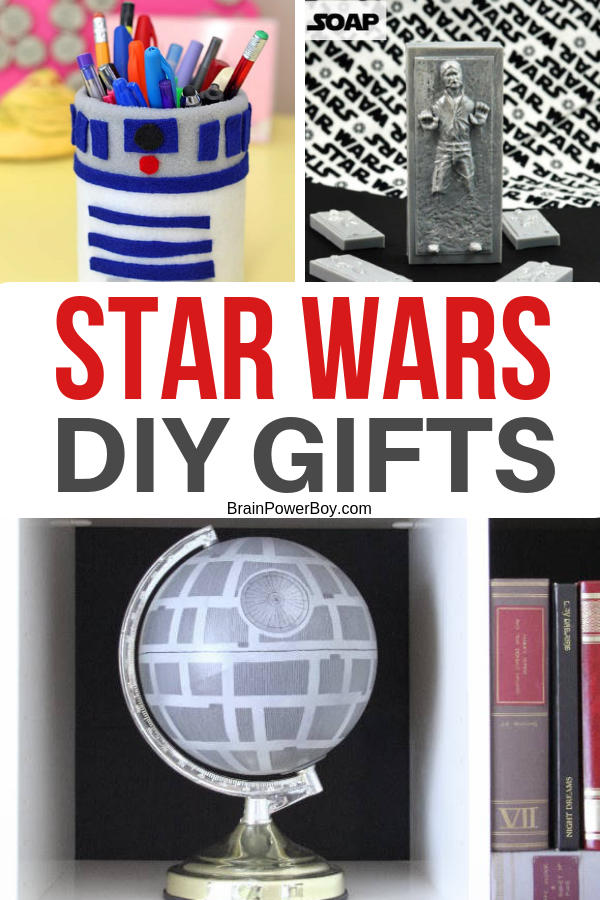 Do not miss these DIY Star Wars gift ideas. They are great to make for your favorite Star Wars fan!