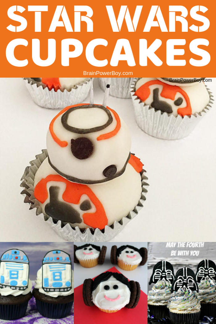 Oh my gosh! These Star Wars cupcakes are sooo neat!!