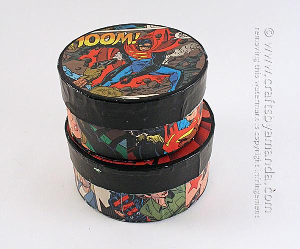 DIY Superman Comic Container
