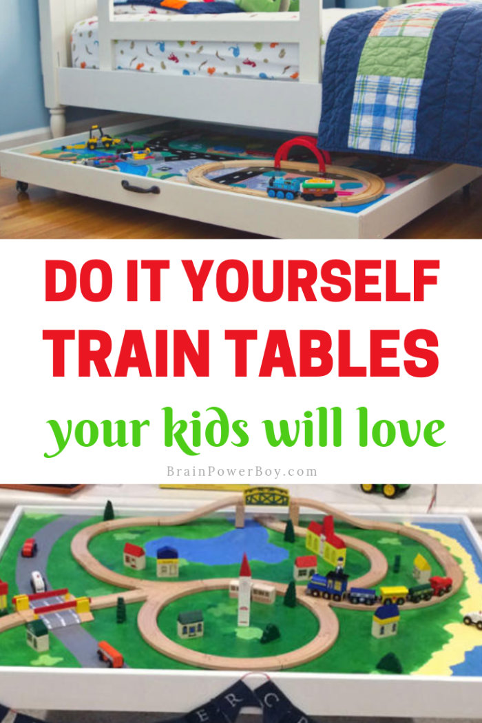 DIY Train Tables to Make For Kids. They are going to love these 100%!