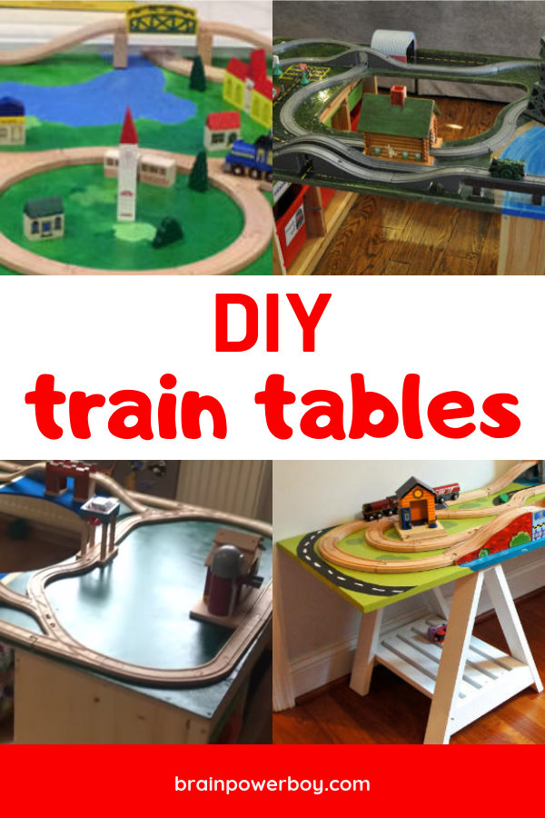 DIY wooden train tables you do not want to miss! We found the best ones to make for your home.