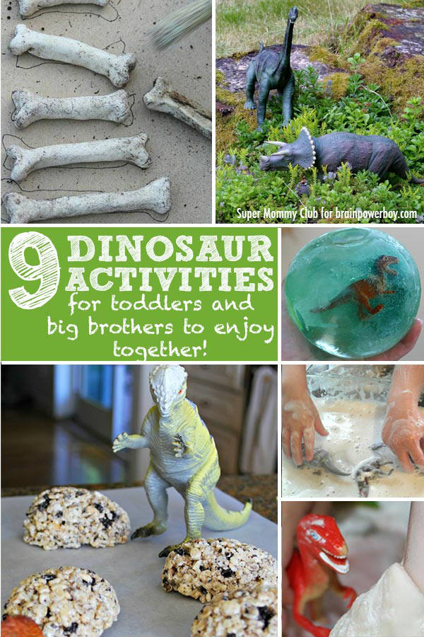 Dinosaur Activities for Toddlers <br> & Their Big Brothers