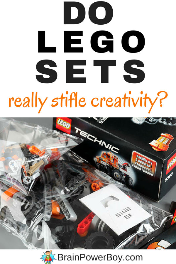 Do LEGO sets really stifle creativity? Are sets ruining your child's ability to use his imagination? Click to read.