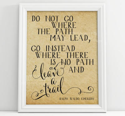 Do not go where the path may lead digital download. Only 99 cents!