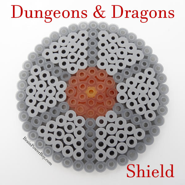Completed D&D Perler Bead Shield Idea
