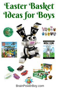 Need an Easter Basket Gift for a special boy in your life? Great ideas plus free printable gift certificates.