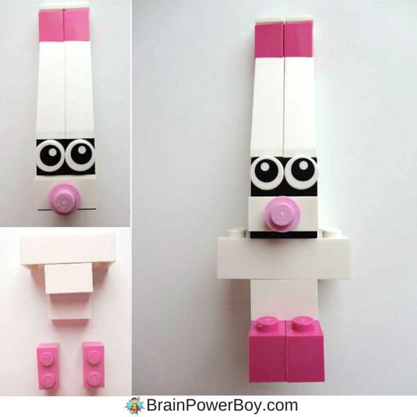 LEGO Easter Bunny building instructions includes images and detailed directions for building this LEGO Design.