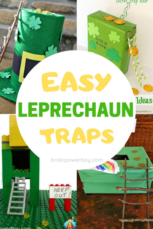 So easy! Make these leprechaun traps with your kids. Super fun activity for St. Patrick's Day.