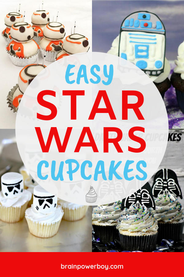 Need an easy Star Wars cupcake for an upcoming birthday party, Star Wars party or other fun event? Try these!!