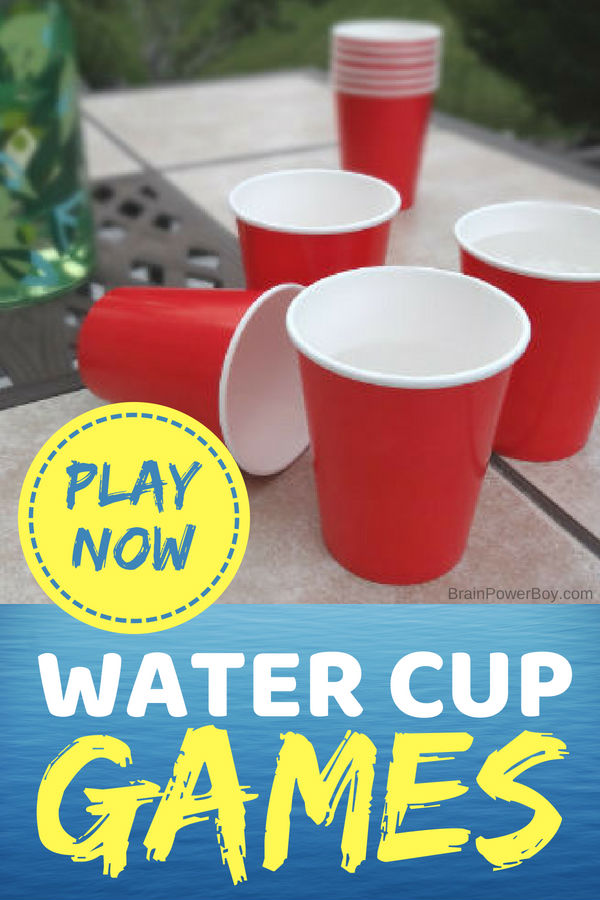 Stay at home and have a great time in your own backyard! There are over 20 backyard water game ideas to try including water cup games that you can play today!