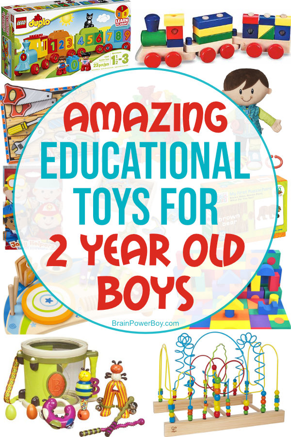 These educational gifts for 2 year old boys are amazing! They are designed to get boys learning and the best part is they are super fun!