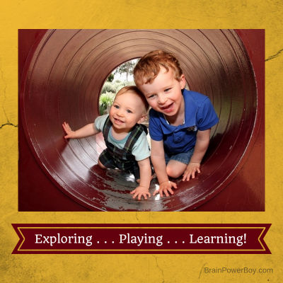 Exploring, Playing, Learning.  Boys know how to learn naturally. | BrainPowerBoy