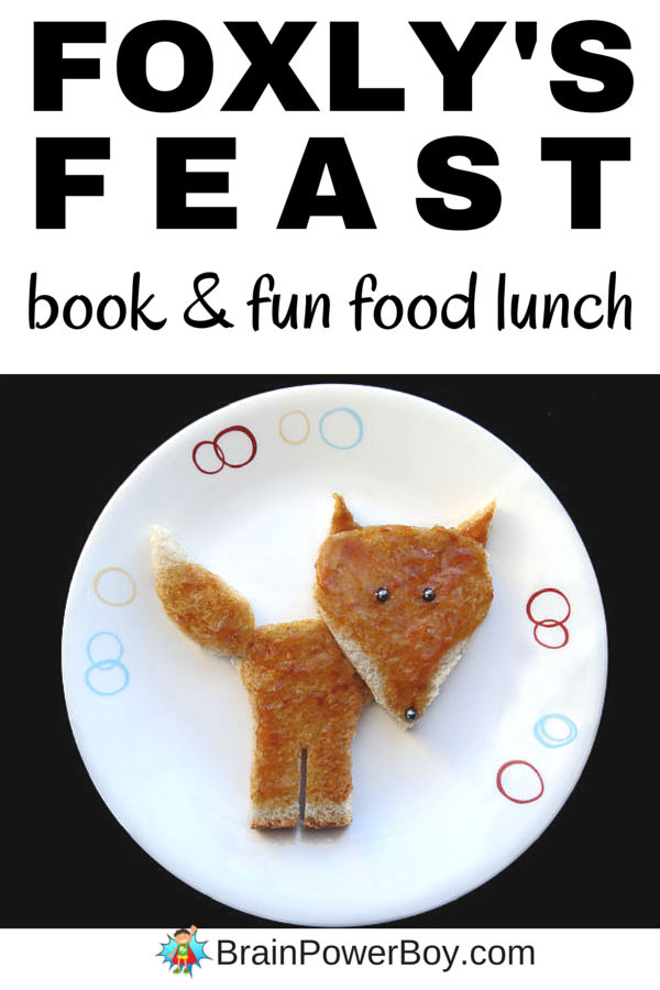 The delightful wordless picture book Foxly's Feast was just perfect for a fun food fox lunch. The fox is easy to make and you are simply going to love the book. Click through for directions.