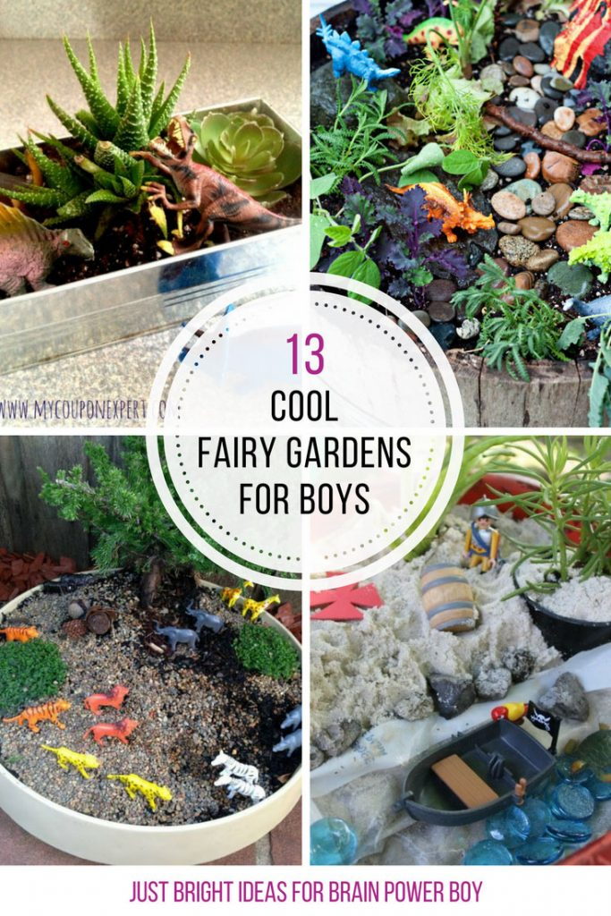 13 Cool Fairy Gardens for Boys You Need to Make!