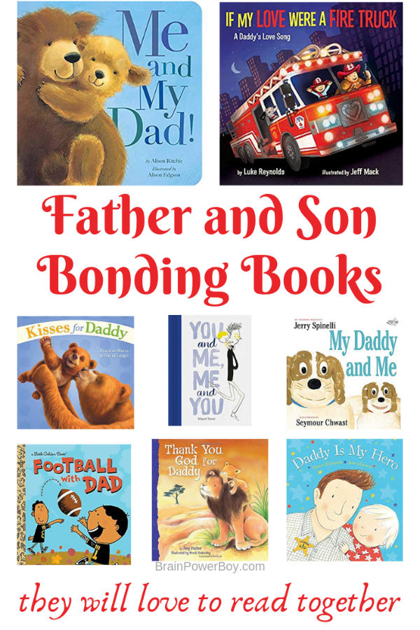 Special books for fathers and sons to help them bond.