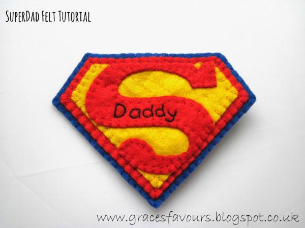 Felt Superman Emblem DIY