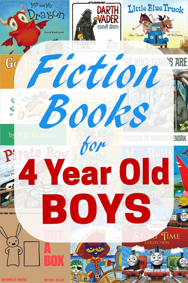 You don't want to miss this list of the best fiction books for 4 year old boys! These books are awesome!