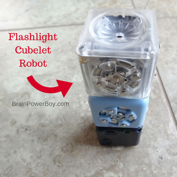 Build a flashlight from robot blocks? You bet! And you can also code it. This is an awesome way to learn coding in a very hands-on way. (with ad Home Science Tools)
