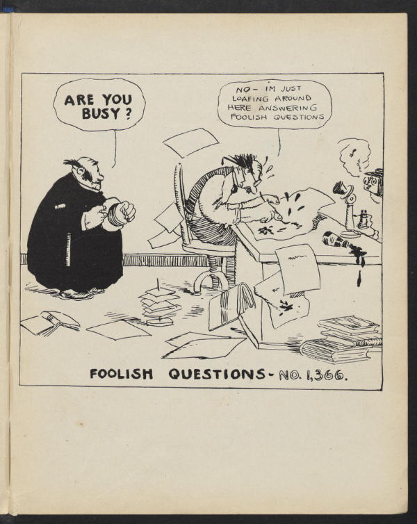 Foolish Questions Number 1366 Harvard Library 1909