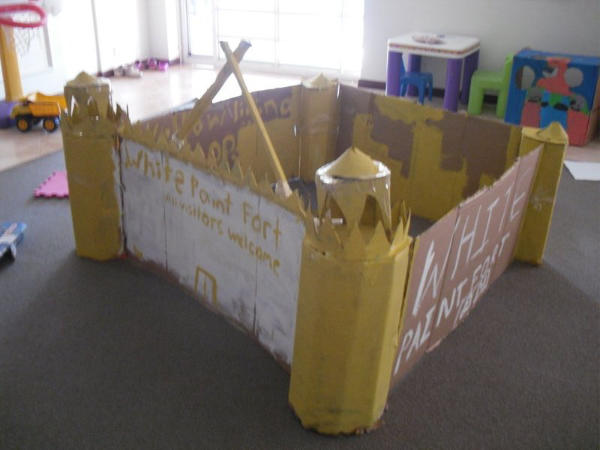 Large Castle Fort Cardboard Creation