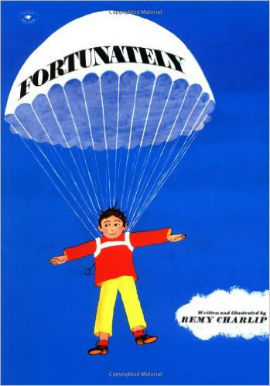 Fortunately features Ned who needs to get to a party. This boy-friendly book is sure to please.
